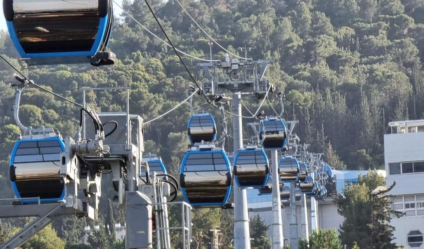 הרכבלית (צילום: דוברות נתיבי ישראל)