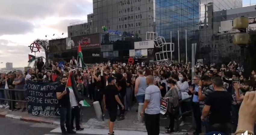 ההפגנה ליד מגדל הנביאים (צילום: דניאל סיגלוב)