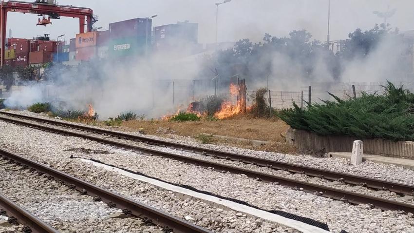 מסילת הרכבת בקרית חיים (צילום: חדר מצב ארצי)