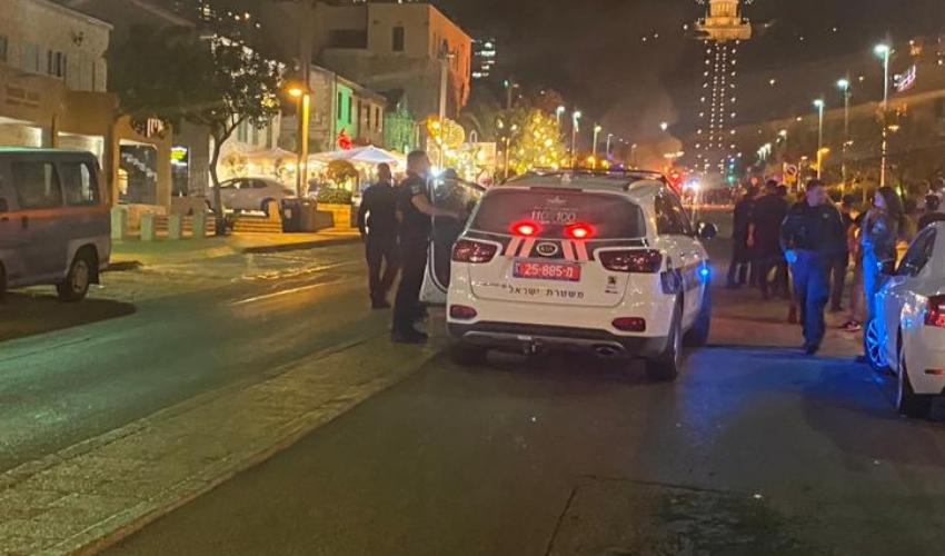 שדרות בן גוריון הערב (צילום: דוברות המשטרה)