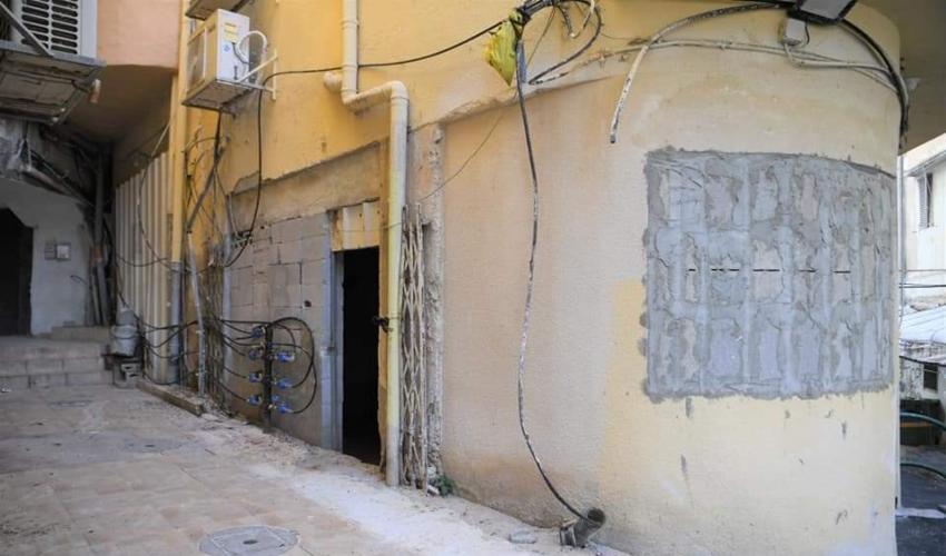 מרחב יצירה במסגרת מיזם האמנים של חיפה (צילום: ראובן כהן, עיריית חיפה)