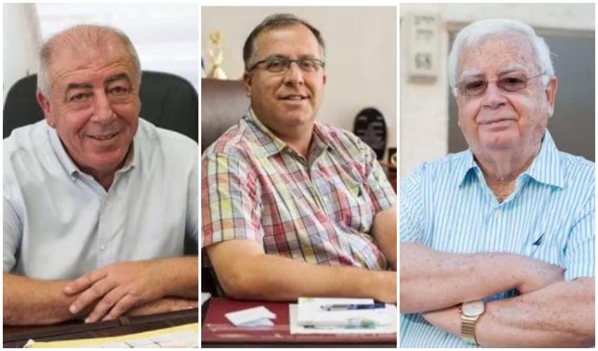 חיים צורי, אלי דוקורסקי ודוד אבן צור (צילומים: דורון גולן)