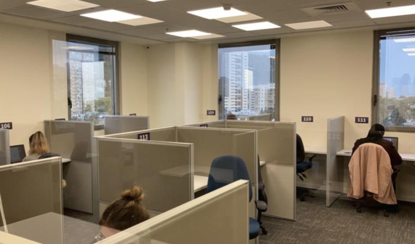 מרכז בחינות ממוחשבות בחיפה (צילום: המרכז הארצי לבחינות ולהערכה)