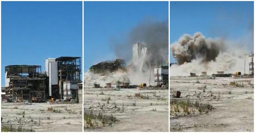 פיצוץ המבנה האחרון של חיפה כימיקלים במתחם בזן (שימוש לפי סעיף 27א לחוק זכויות יוצרים)