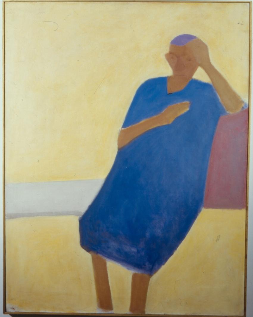"""אורי ריזמן, """"אישה יושבת"""", 1968 (צילום: סטס קורולוב)"""