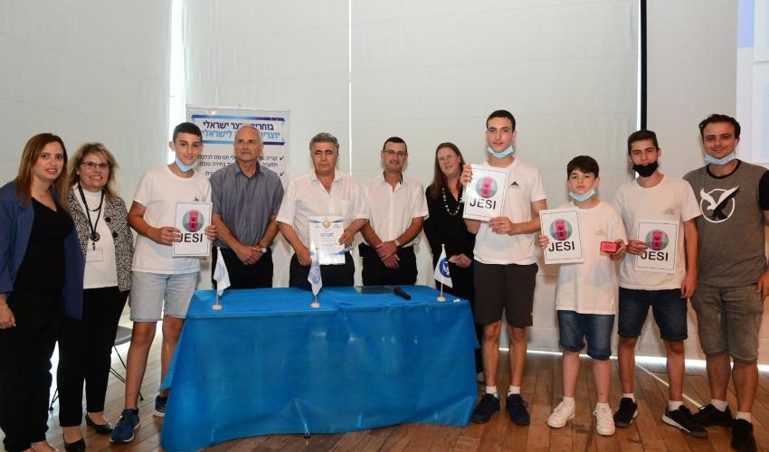 המקום הראשון לתלמידי הריאלי בתוכנית יזמות ארצית (צילום: ישראל מלובני יעדים)