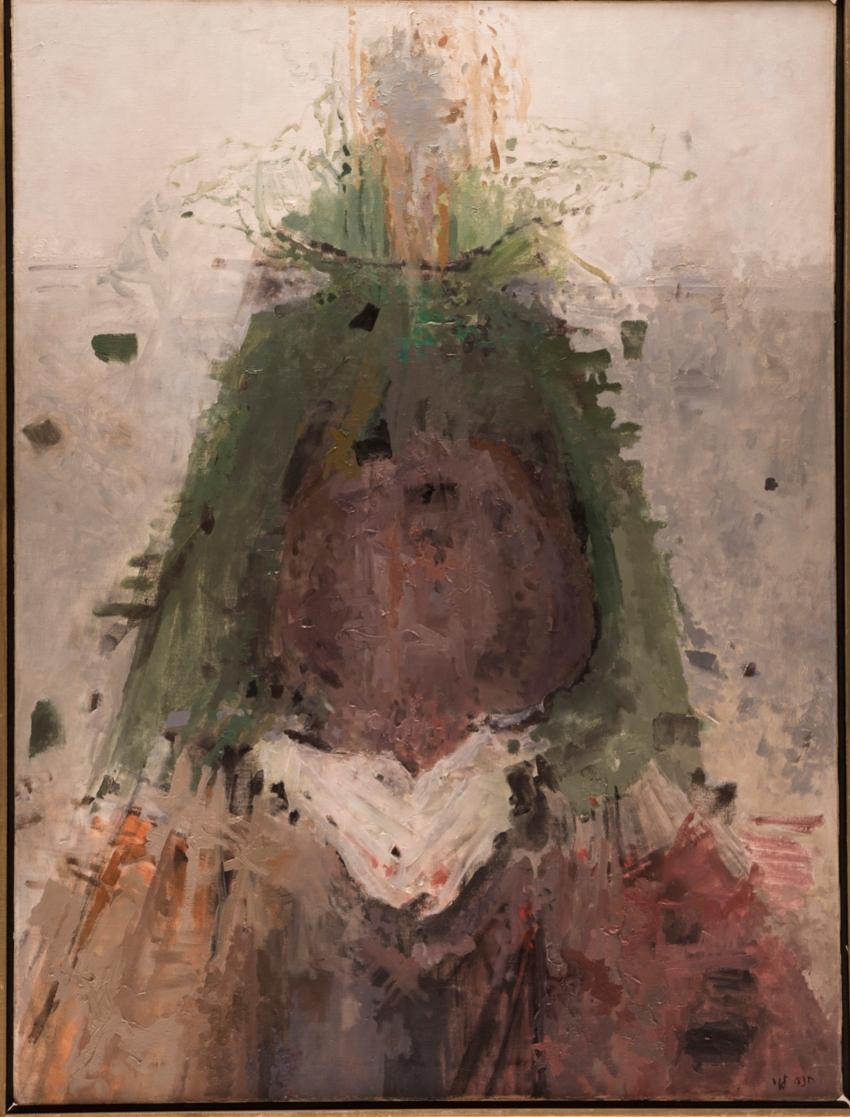 """חנה לוי, """"אישה בהריון"""", 1974 (צילום: סטס קורולוב)"""