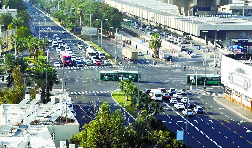 צומת בחיפה (צילום: חגי פריד)