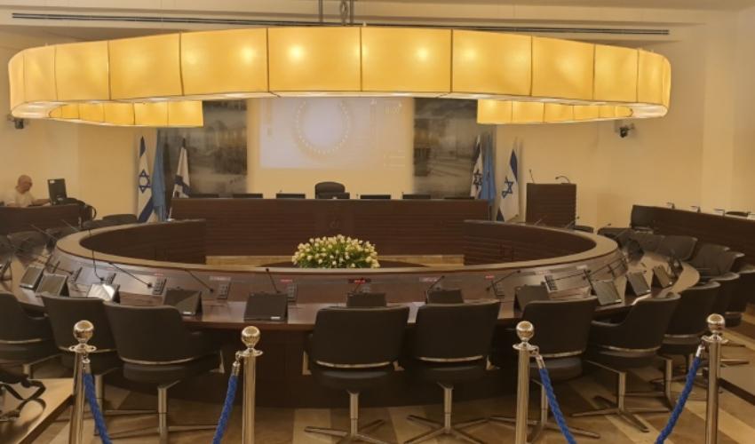 אולם מועצת העיר חיפה (צילום: בועז כהן)