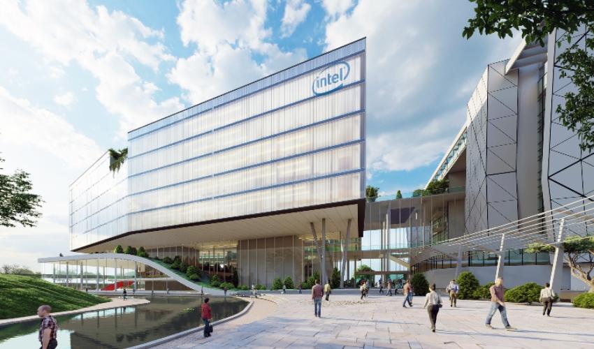 מרכז ההייטק של אינטל (הדמיה: אדריכל מושלי דגן וסטודיו ורד גינדי אדריכלות פנים)