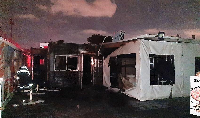 חשד להצתה בגולאסו (צילום: דוברות כבאות והצלה - חוף)