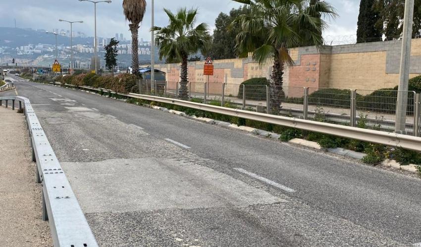 כביש הטכני (צילום: ראובן כהן, דוברות עיריית חיפה)