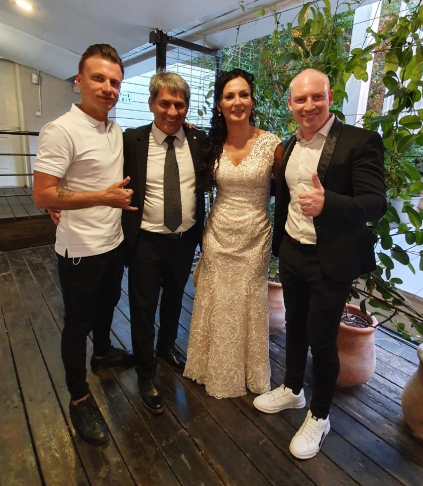 החתן והכלה לזר ונטליה קפלון עם mc flash ודיג'יי קוסינוב