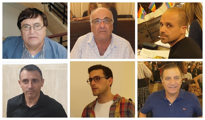 ראשי התאגידים החדשים? שלום, עידו, להט, בן דיין, בלס ובליצבלאו (צילום: בועז כהן)