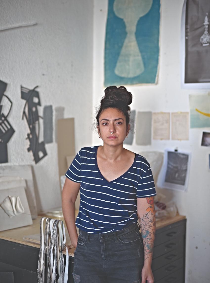 שירן יצהרי, אמנית פלסטית (צילום: מארק יאשאייב)