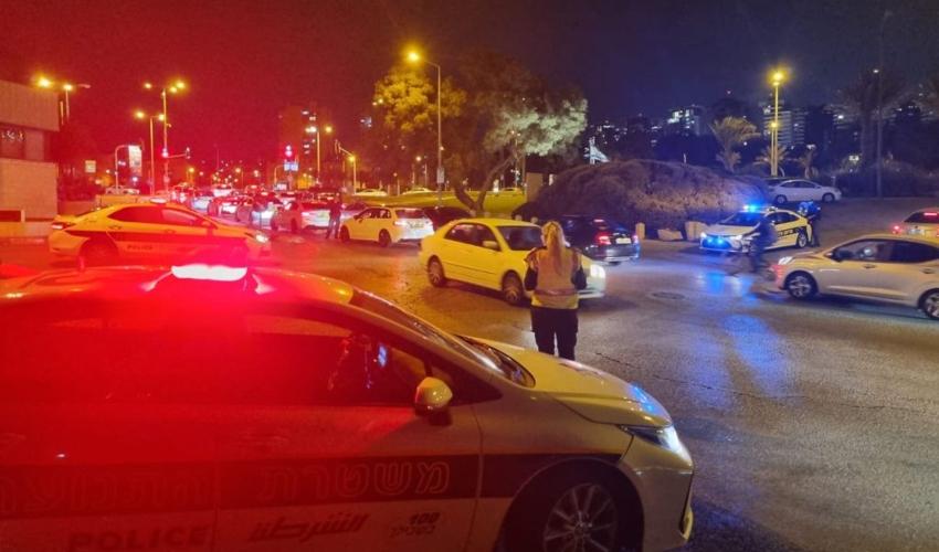 פעילות משטרתית נגד כלי רכב משופרים (צילום: דוברות המשטרה)