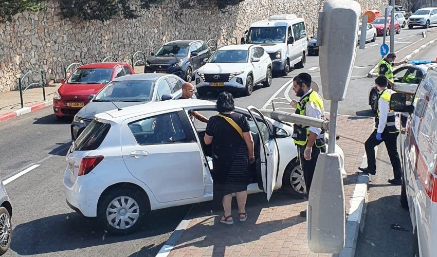 תאונה עצמית בפרויד (צילום: דוברות כבאות והצלה - חוף)