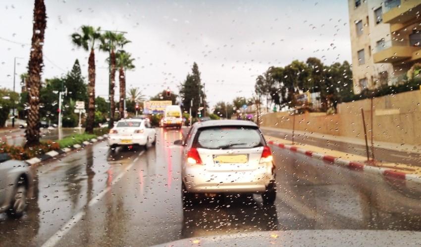 חורף בכביש (צילום: אור ירוק)