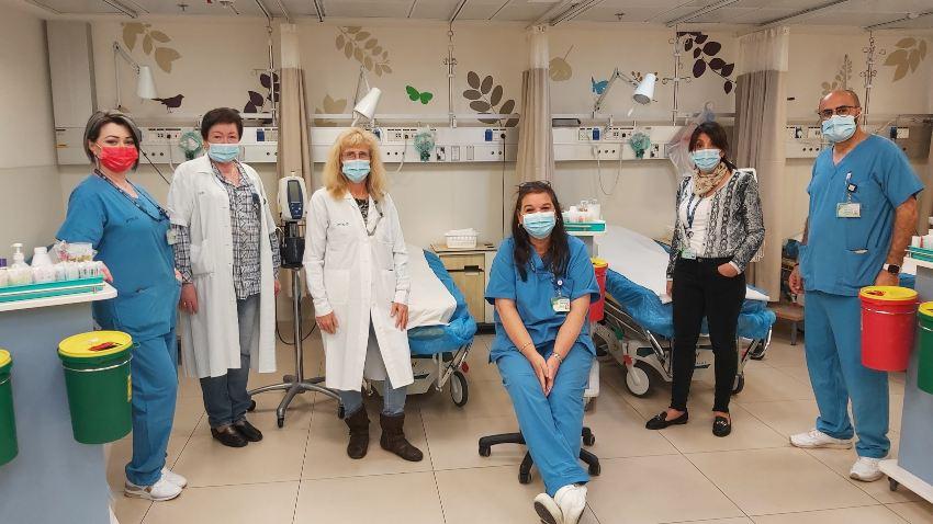 צוות מיון קהילתי של כללית במרכז הרפואי לין | צילום: דוברות כללית
